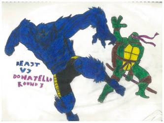 Beast Vs Donatello Round 3 by thorman