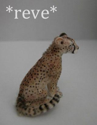Miniature Cheetah Sculpture by ReveMiniatures