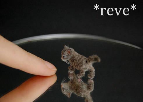 Handmade 1:12 Miniature Kitten Sculpture