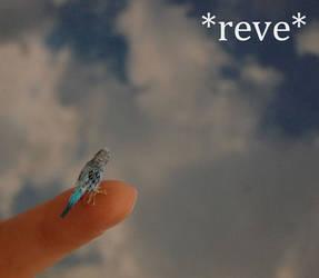 Handmade Miniature Parakeet / Budgie Parrot Sculpt by ReveMiniatures