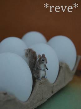 OOAK Handmade Miniature Squirrel Sculpture