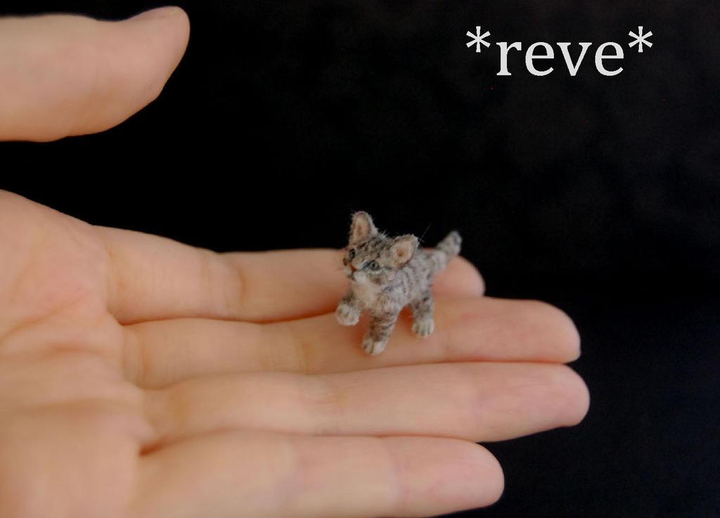 OOAK Handmade Miniature Tabby Kitten Sculpture by ReveMiniatures