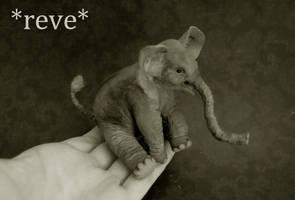 Baby Elephant Handmade Miniature Sculpture