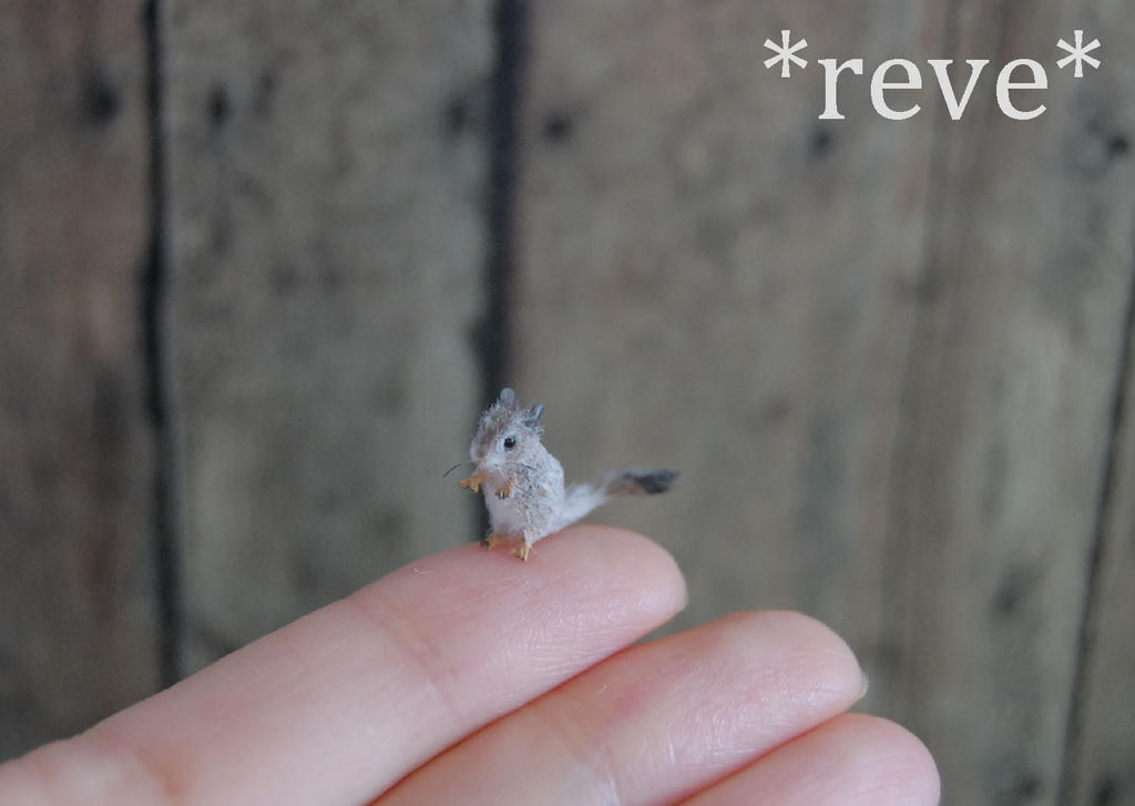 Gerbil Pet Handmade Miniature Sculpture by ReveMiniatures
