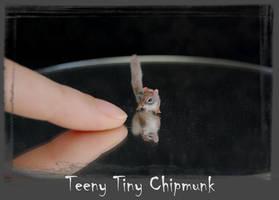 Chipmunk Handmade Miniature Sculpture by ReveMiniatures