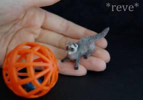 Handmade Miniature Ferret