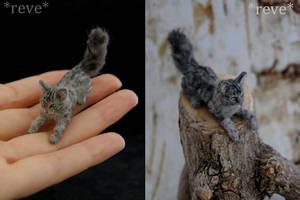 Miniature Cat * Handmade Sculpture * by ReveMiniatures