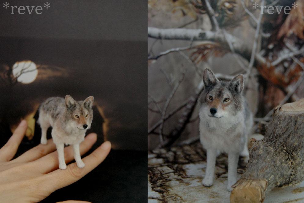 Miniature Wolf * Handmade Sculpture * by ReveMiniatures