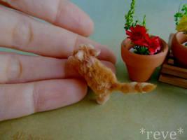 Miniature Ginger Kitten * Handmade Sculpture *