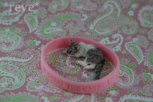 GoPink!  * Handmade Miniature Cat *