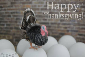 Happy Thanksgiving! * Handmade Miniature Turkey * by ReveMiniatures