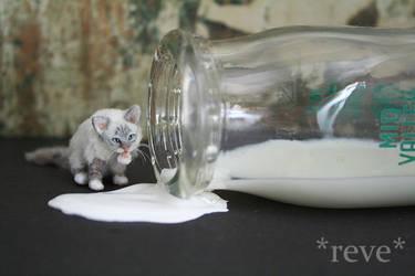 Got Milk? ~ Handmade Miniature Birman Cat