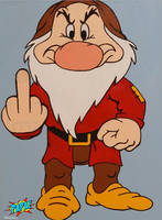 Grumpy Expressing His True Feelings by PAPA-PopArt