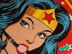 Ball Gag Wonder Woman BDSM Painting by PAPA