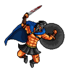 Greek Warrior pixel by wonman321