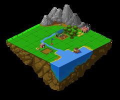 Village on heaven _ Pixel by wonman321