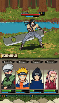 Naruto mobile game mockup