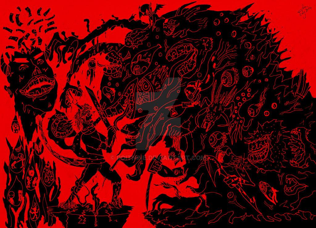 Immensum sequuntur somnia / Endless Nightmares. by RoiTNine