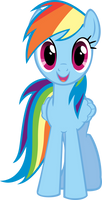 Rainbow Dash Hugs Vector