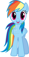Rainbow Dash Hugs Vector