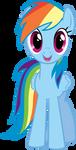 Rainbow Dash Hugs Vector by kittyhawk-contrail