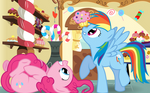 Pinkie, Dash, and a Muffin