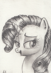 Rarity Graphite Card by kittyhawk-contrail