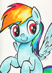 Rainbow Marker Card