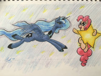 The Enchanted Studio: Pinkie and Luna