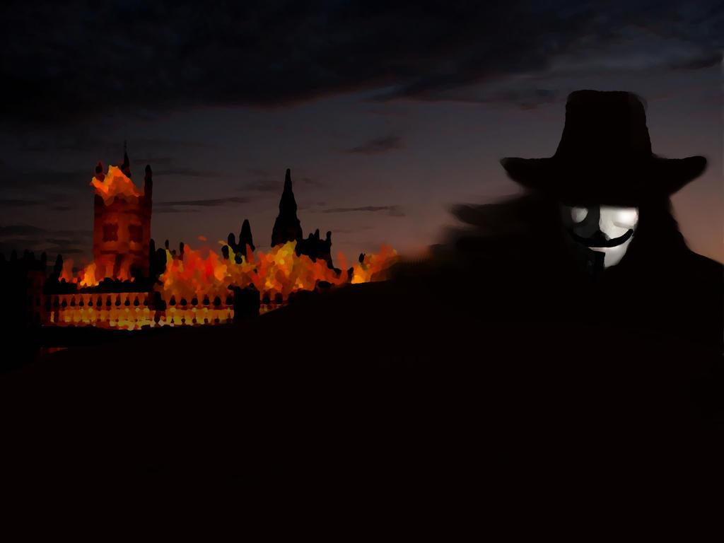 V For Vendetta Painting Remember remember the ...