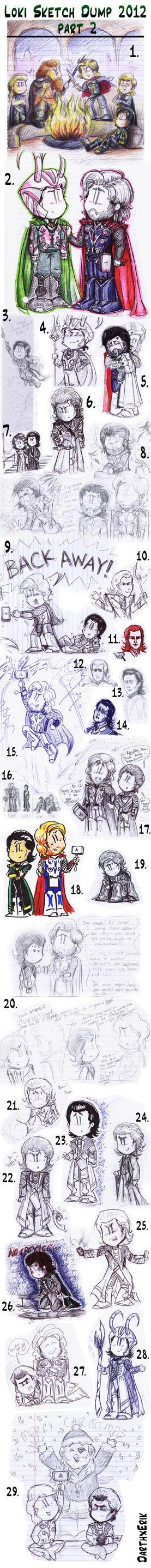 Loki Sketch Dump 2012 part 2 by DarthxErik