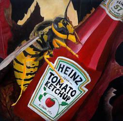 Wasp on Bottle