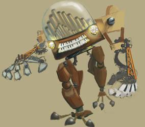 WIP SteampunkOrgan Robot