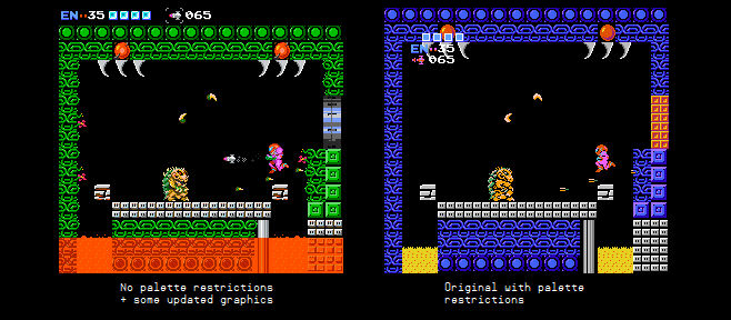NES Metroid without palette restrictions