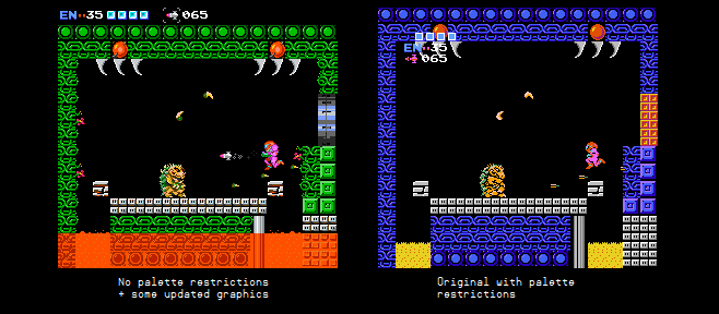 NES Metroid without palette restrictions by keoni29