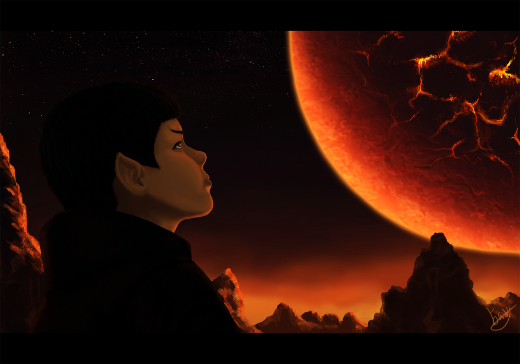Young Spock on Vulcan by AlyxSP