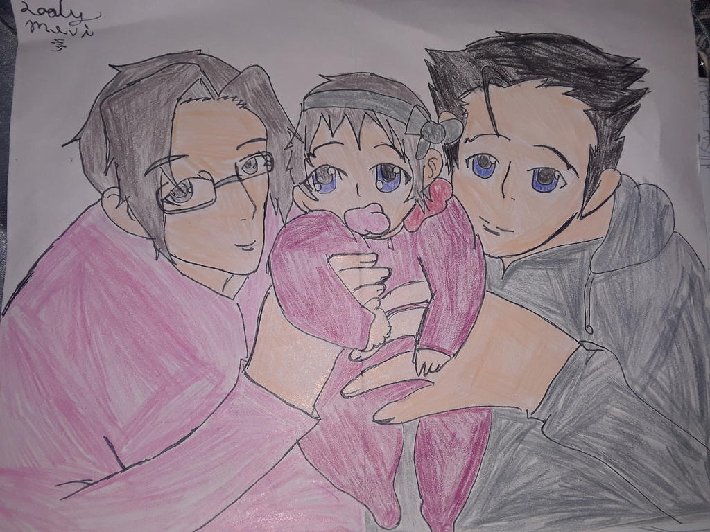 The Edgeworth-Wright family by shadowlinkgirl