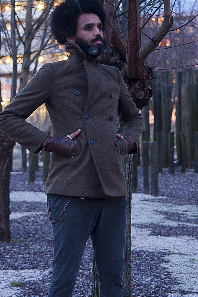 Tweed outerwear by Afrosamorai