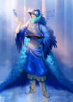 COMMISSION - peacock guy - Alice Pignatti