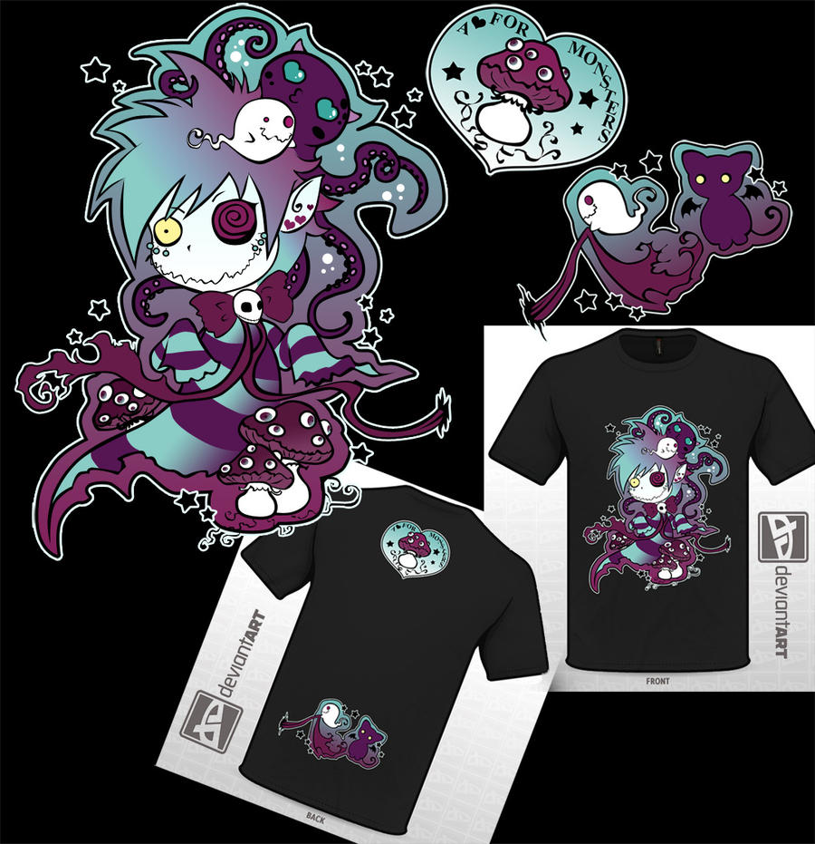my octopus and me - cute monsters by QuistisNoir