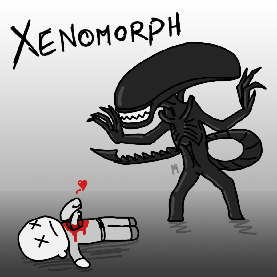 Xenomorph Chestburster Drawing X stands for Xenomorph...