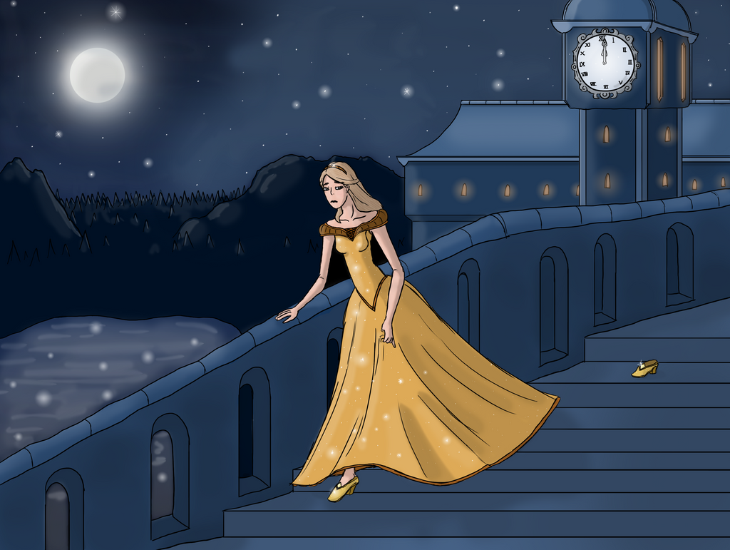Cinderella running from the ball by Nexils on DeviantArt Cinderella Running Away From The Ball