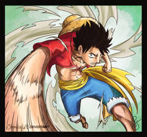 Request: Monkey D. Luffy by Shuukaku92