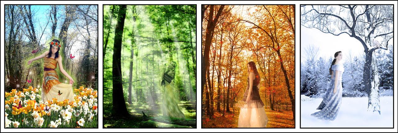 Four Season Goddesses Series by countocram