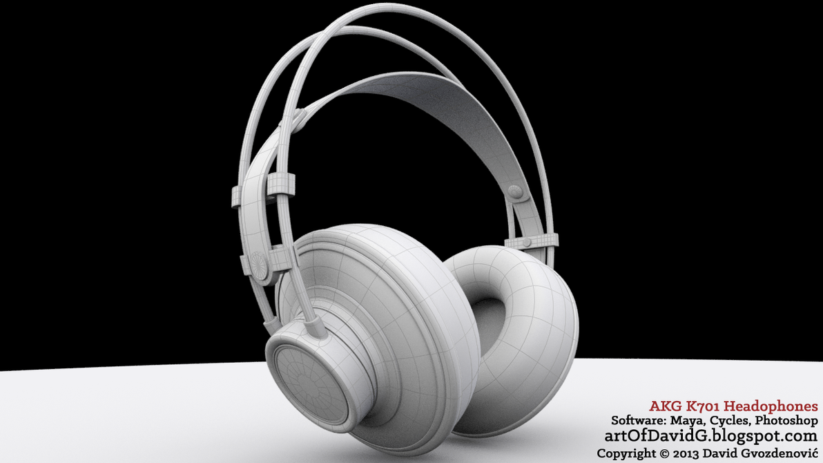 AKG K701 Headphones by davidKatara on DeviantArt