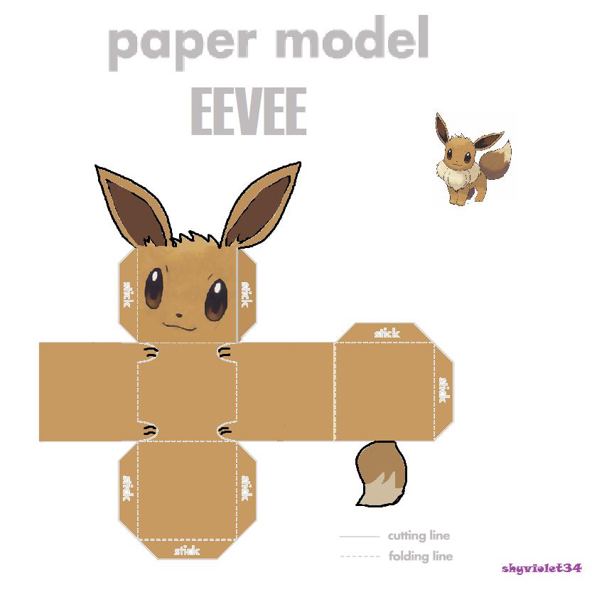 Как сделать покемона из бумаги иви
