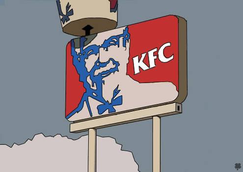 Cel-Shaded KFC Sign