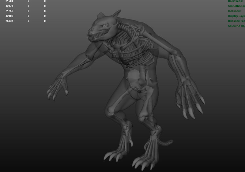 creature modeling 10 - skeleton finished by adeptus-astrates on