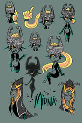 Midna Sketches by Christy-off