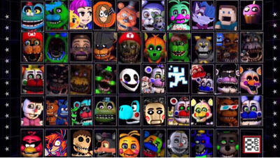 Ultimate fnaf youtuber custom night (READ DISC) by WitheredKenny on